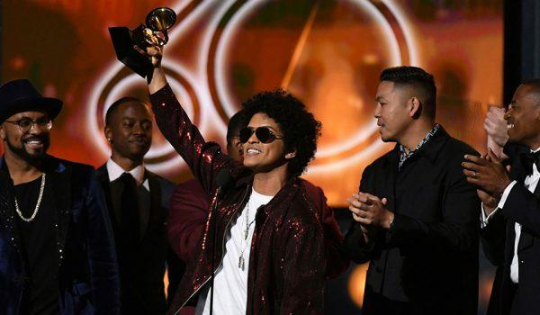 Bruno Mars arrasó en los Grammy 2018